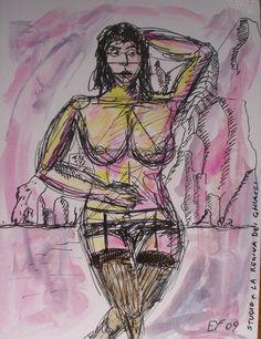 Für die Stockings und Nylons Liebhaber/rinnnen wie ich. Meine eigene Kunst : LA REGINA. Verkauft   Zur Zeit meine Kunst auch auf ebay.de unter:  http://www.ebay.de/sch/i.html?_from=R40&_trksid=p2050601.m570.l1313.TR2.TRC1.A0.H0.XEYF-ART.TRS0&_nkw=EYF-ART&_sacat=0