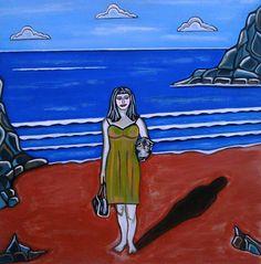 Beach Chic by Sandra Marie Adams Copyright by Sandra Marie Adams--- Click Image to see larger view. -- Many Framed, Metallic, Acrylic, and GalleryWrapped Canvas choices or unframed Prints. Renaissance Art, Figure Painting, Fine Art America, Modern Art, Artsy, Romanticism Art, Wall Art, Canvas, Beach Paintings