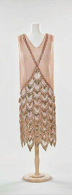 French Dress - 1925 - Silk, rhinestones - The Metropolitan Museum of Art.