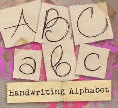 Handwriting Alphabet (Design Pack) design (UTP1101) from UrbanThreads.com