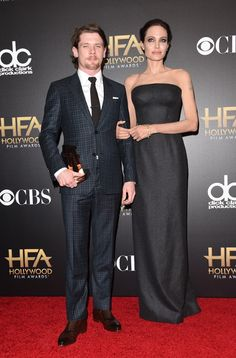 Jack O' Connell and Angelina Jolie @ Hollywood Film Awards 2014