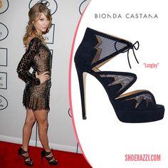 Taylor Swift in Bionda Castana Langley Platform Sandals - ShoeRazzi