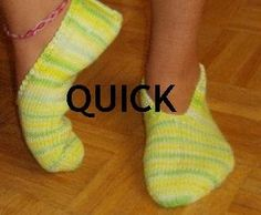 quick knitted slipper pattern that uses needles that I actually have yay