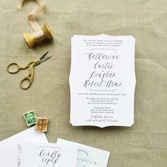 simple and romantic letterpress wedding invitations | Smitten on Paper