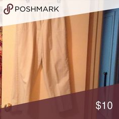 Nice pants 2 front pockets. Elastic waste. Color. Beige White Stag Pants Straight Leg