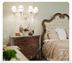 Accent Chest as Night Stand French Country Style | The Decorating Diva, LLC
