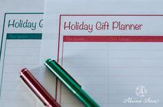 Holiday Gift Planner Printable | Alaina Ann