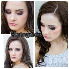 Subtle smokey eye bridal makeup look @kortneyjstudios