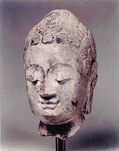 Chinese Head of a Buddha  PERIOD  Northern Qi 550-577 AD  CATEGORY  Chinese