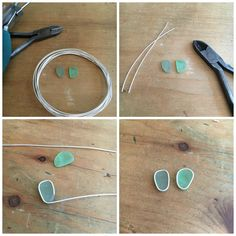 Art Jewelry Elements:Soldered Sea Glass Earrings