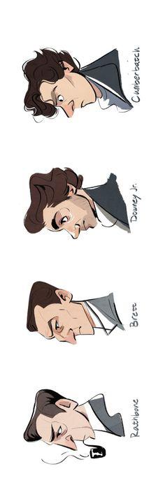 Sherlock Holmes profiles