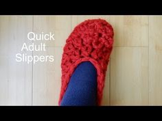 These Crocheted Slippers are so Quick to Work Up and Perfect for Christmas Presents - Learn How to Crochet for Beginners