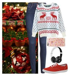 """""""You forgot the tree?! How do you forget the tree?!"""" by madhattermadi ❤ liked on Polyvore featuring H&M, Keds, Casetify and Beats by Dr. Dre"""