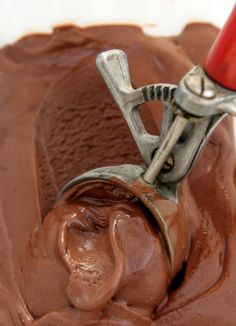 chocolate ice cream - no eggs!