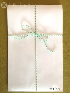 photo envelope with twine