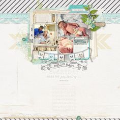 adorably sweet baby page by Kayleigh at #designerdigitals