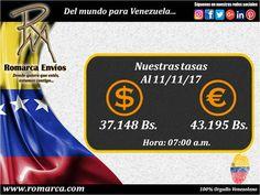 Compartimos con todos ustedes nuestras tasas de cambio en #RomarcaEnvios. ¡Las mejores del mercado alternativo!