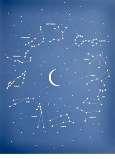 A study of the stars: this screenprinted poster of the constellation presents the starry sky in a minimalist manner (sold by Wallabuy)