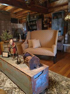Primitive Living Room, Primitive Country Homes, Primitive Furniture, Country Furniture, Home Decor Furniture, Prim Decor, Country Decor, Farmhouse Decor, Primitive Decor