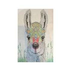 Cute Hipster Llama Collage Poster Paper Print Wall Art Living Room Home Office Decor 20 x 30 *** You can find out more details at the link of the image.