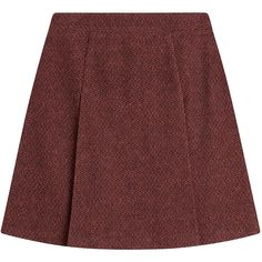 A.P.C. Flared Wool Skirt (3.220 CZK) ❤ liked on Polyvore featuring skirts, bottoms, clothes - skirts, faldas, red, flare skirts, red skirt, red flared skirt, red flare skirt and slimming skirts