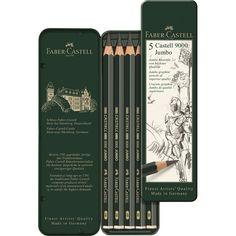 Bleistift CASTELL 9000 Jumbo 5er Etui Ca. 9,95€