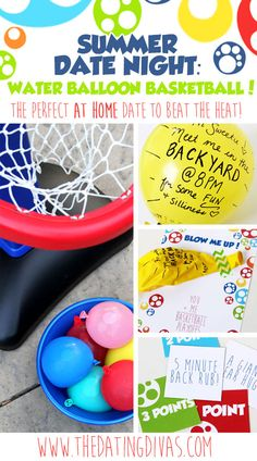 Awesome summer date night of basketball with a FUN twist! www.TheDatingDivas.com