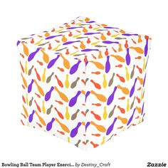 Bowling Ball Team Player Exercise Fitness Train Cube Pouf