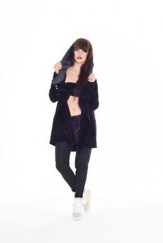 Bluzo-płaszcz ROBIN czarny
