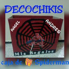 Caja de regalos de Spiderman