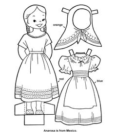 traditional cultural dance coloring pages for kids Dance Coloring Pages, Coloring Book Pages, Coloring Pages For Kids, Coloring Sheets, Paper Doll Template, Paper Dolls Printable, Paper Toys, Paper Crafts, Paper Dolls Clothing