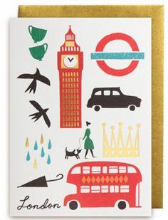 Debbie Powell for Lagom Design, debbie powell, lagom design, illustrator, design, stationary, card, london, england, big ben, tea, underground, double decker bus