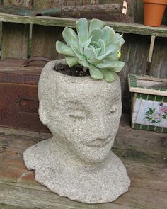 DIY Head Planters | Do it yourself ideas and projects