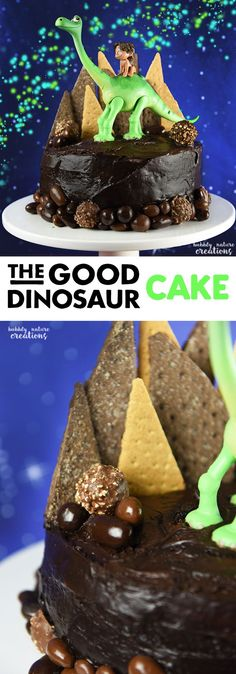 The Good Dinosaur Cake! So Cute for a Disney The Good Dinosaur party! It tastes just as delicious as it looks too! (Bake Tools For Kids)