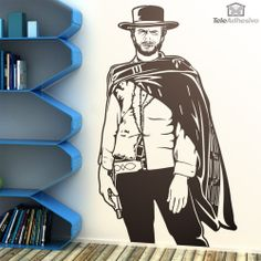 The Good, The Bad and The Ugly: Clint Eastwood as Blondie Wall Decal Blues Brothers, Clint Eastwood, Pulp Fiction, Being Ugly, Wall Decals, Stencils, Wonder Woman, Good Things, Woodburning
