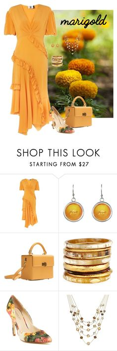 """""""Marigold Ruffles"""" by lwilkinson ❤ liked on Polyvore featuring Topshop, Hédara, Ashley Pittman, Charles by Charles David, INC International Concepts and marigold"""