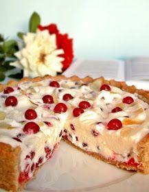 Candy's: Ribizlis-mascarponés pite Tart Recipes, Fruit Recipes, Dessert Recipes, Cooking Recipes, Summer Desserts, Sweet Desserts, Hungarian Desserts, Savarin, Winter Food