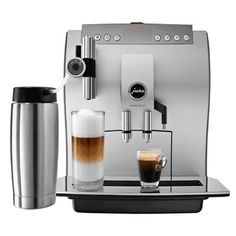 Jura Impressa Z7 One-Touch Automatic Coffee Center Latte macchiato or Cappuccino at the touch of a button  Height adjustable spout Thermoblock heating system  A
