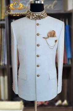 Buy Wedding Sherwani Online Designer Sherwani For Men is part of Prince suit - Buy wedding sherwani for men by Shameel Khan Choose elegant styles and colors to look stylish this wedding season Indian Wedding Suits Men, Indian Groom Wear, Wedding Dress Men, Dress Suits For Men, Mens Suits, Men Dress, Indian Men Fashion, Mens Fashion Wear, Prince Suit