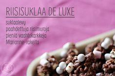 Oravanpesä   Riisisuklaa de luxe Food To Make, Cereal, Frozen, Breakfast, Sweet, Recipes, Lush, Morning Coffee, Candy