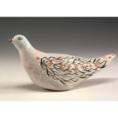 Skippy  Ceramic Bird Sculpture by Jenny Mendes by jennymendes