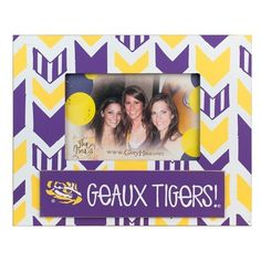 Glory Haus 'Collegiate Arrow' Frame ($24) ❤ liked on Polyvore featuring home, home decor, frames, louisiana state, glory haus and arrow home decor
