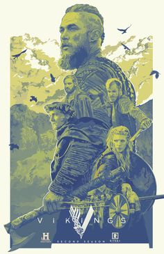 """Movie Synopsis: """"The world of the Vikings is brought to life through the journey of Ragnar Lothbrok, the first Viking to emerge from Norse legend and onto the pages of history – a man on the edge of myth."""" More Eliud Rivera AMPs: Eliud Rivera […] Vikings Show, Vikings Season, Vikings Tv, Ragnar Lothbrok, Tatouage Lowrider, Viking Wallpaper, Seasons Posters, Viking Series, Armas Ninja"""