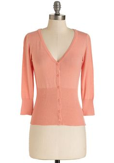 Ice Cream Sociable Cardigan in Peach | Mod Retro Vintage Sweaters | ModCloth.com