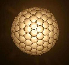 plastic cup sphere lamp- great outdoor lighting idea!