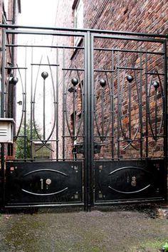 contemporary steel Rennie Mackintosh gates