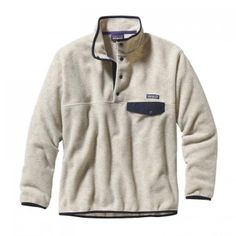 Patagonia Men's LW Synch Snap-T Pull Over in Cliff: Oatmeal Heather