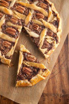 Rustic Chocolate Pecan Tart