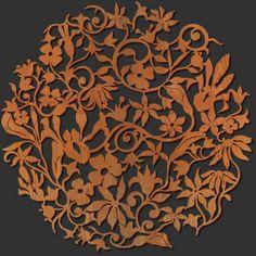 Decorative Free Form Wall Art: Spring Flowers Circle http://www.lightwavelaser.com/wall-art-FF.htm