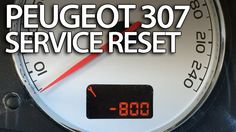 How to #reset #service reminder in #Peugeot #307 #maintenance inspection indicator #cars